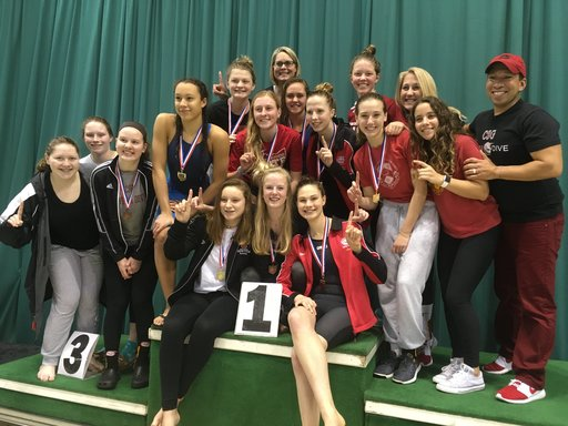 Upper School swim and dive team captures 5th consecutive district title